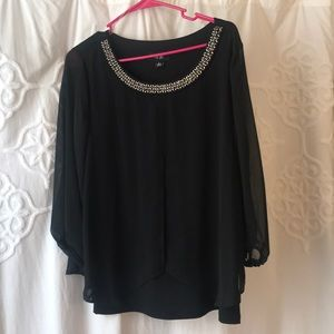 Flowy black blouse